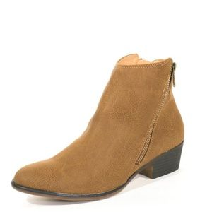 New! Chelsea Crew Tan Dundy Side Zipper Bootie